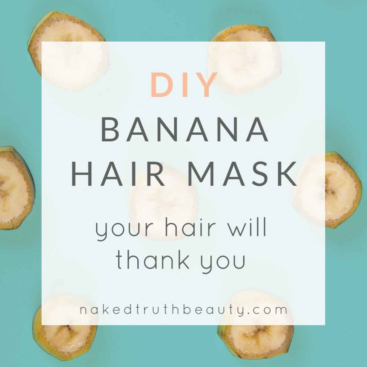 DIY banana hair mask with honey, egg, and avocado