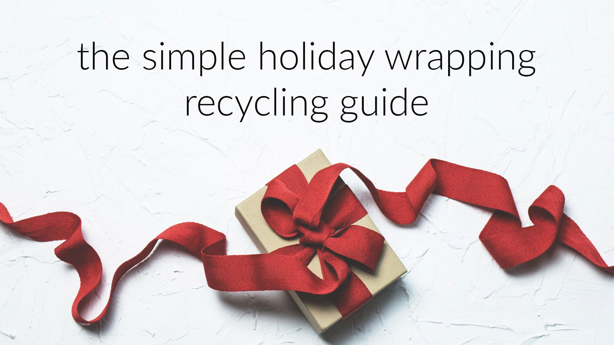 The Simple Holiday Wrapping Recycling Guide